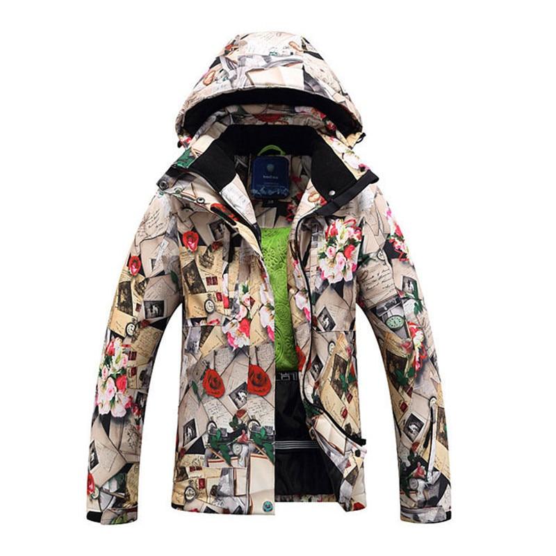 Winter Ski Jackets Female  Single Double Board Ski Clothing Windproof Waterproof Warm Thick Coat Ski Jacket Women