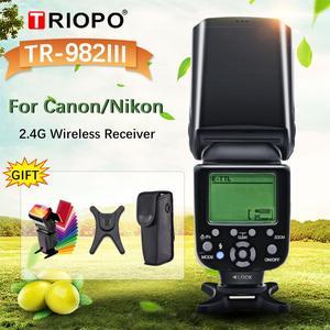 Image 1 - Triopo TR 982IIIフラッシュライトTR982IIIスピードライト高速同期i ttlフラッシュ2.4グラムワイヤレスマスタスレーブキヤノン/ニコン