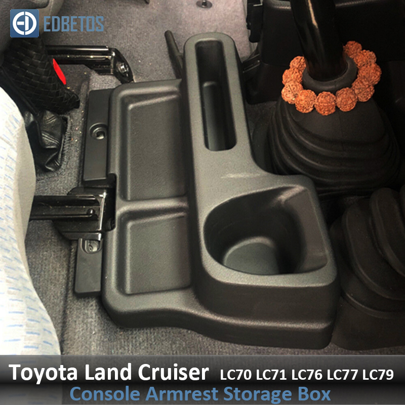 Car Front Center Console Storage Box Tray Case for <font><b>Toyota</b></font> Land Cruiser LC70 LC71 <font><b>LC76</b></font> LC77 LC79 VDJ76 VDJ78 VDJ79 Accessories image