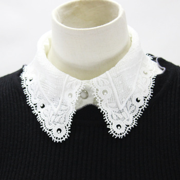 Hollow Out Chiffon Shirt Women Dickie Tip Decoration Lead Fake Collar Detachable New Free Shipping Drop Shpper