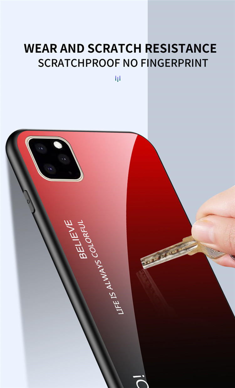 Ollyden Gradient Tempered Glass Cases for iPhone 11/11 Pro/11 Pro Max 10