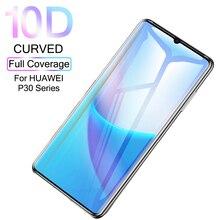 P30Pro Gehärtetem Glas 10D Für Huawei P30 Pro Lite Schutz Glas Auf Die Hauwei P30Lite licht Film Curved Screen Protector sklo