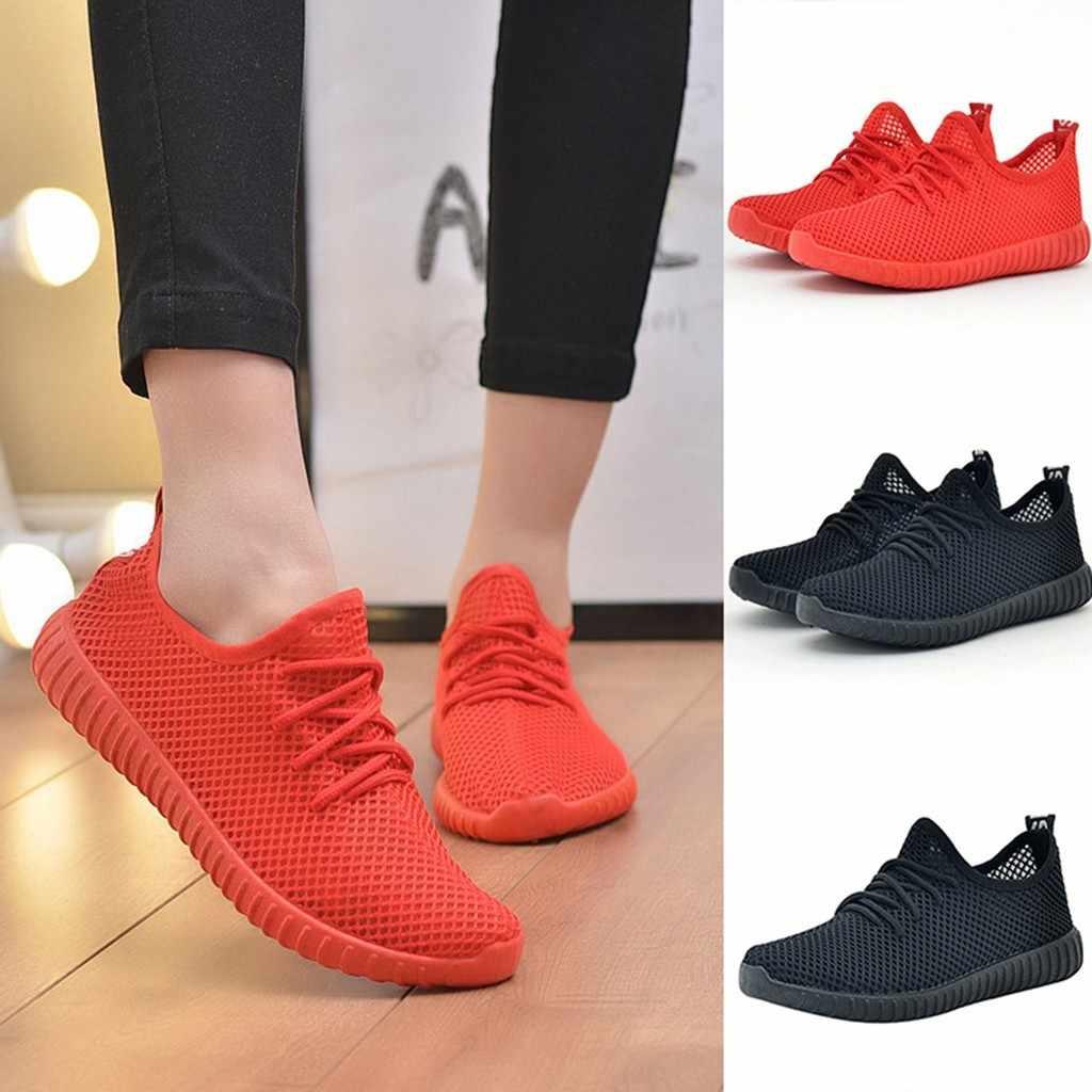 נשים סניקרס רשת לנשימה רך פלטפורמת גבירותיי נעלי קיץ מזדמן הליכה נעלי נשים ריצה אנטי להחליק ספורט סניקרס #3