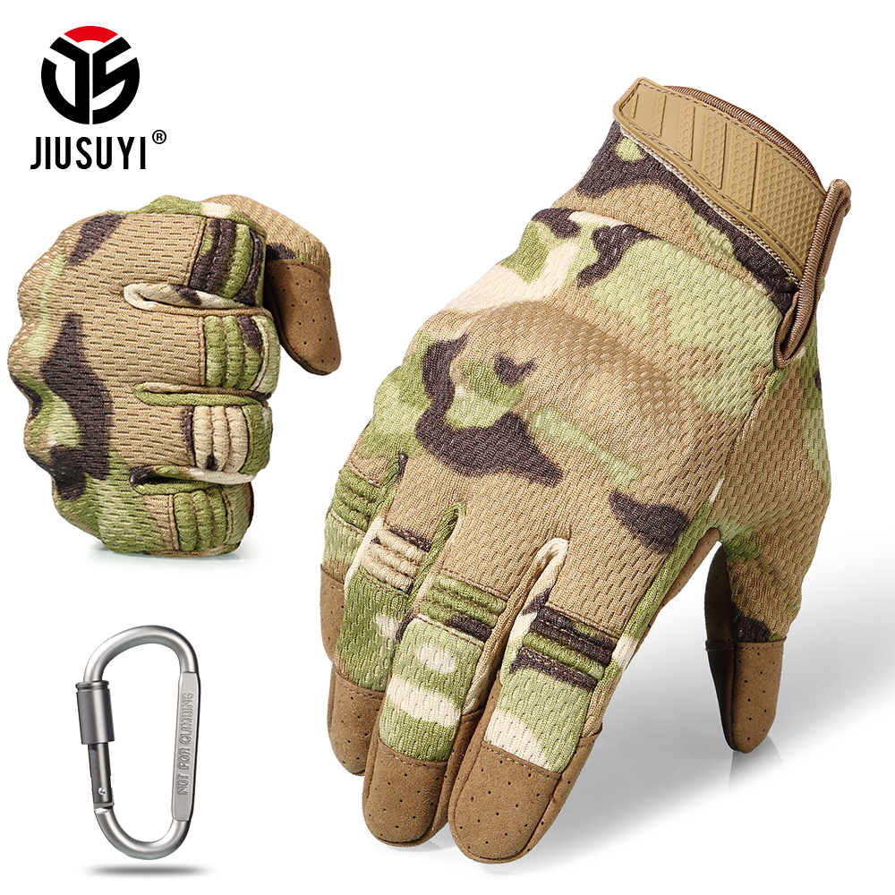 Touch Screen Tactical Full Finger Gloves Army Military Paintball Shooting Airsoft Combat Anti-Skid Protection Hard Knuckle Gear