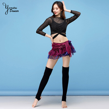 Belly Dance Costume New Autumn And Winter Sexy Practice Clothes Fairy Fashion Practice Suit Suit Female Adult