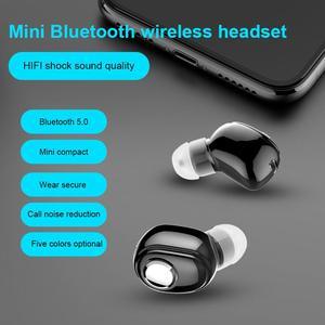 Image 3 - L16 Mini kulak Bluetooth 5.0 kulaklık HiFi spor kablosuz mikrofonlu kulaklık kulakiçi Handsfree Stereo kulaklık akıllı telefonlar için