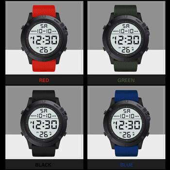 Luksusowy mężczyzna cyfrowy zegarek zegarki na rękę analogowy wojskowy Sport zegarek Led zegarki na rękę dla mężczyzn cyfrowy budzik zegarki 2020 tanie i dobre opinie Sanwony 27cm Moda casual QUARTZ Nie wodoodporne Klamra CN (pochodzenie) Stop Szkło Nie pakiet Skórzane 55mm 1 PC Watch
