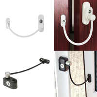 Window Security Chain Lock Window Cable Lock Restrictor Multifunctional Window Lock Door Security Guard for Baby Safety 1Pcs
