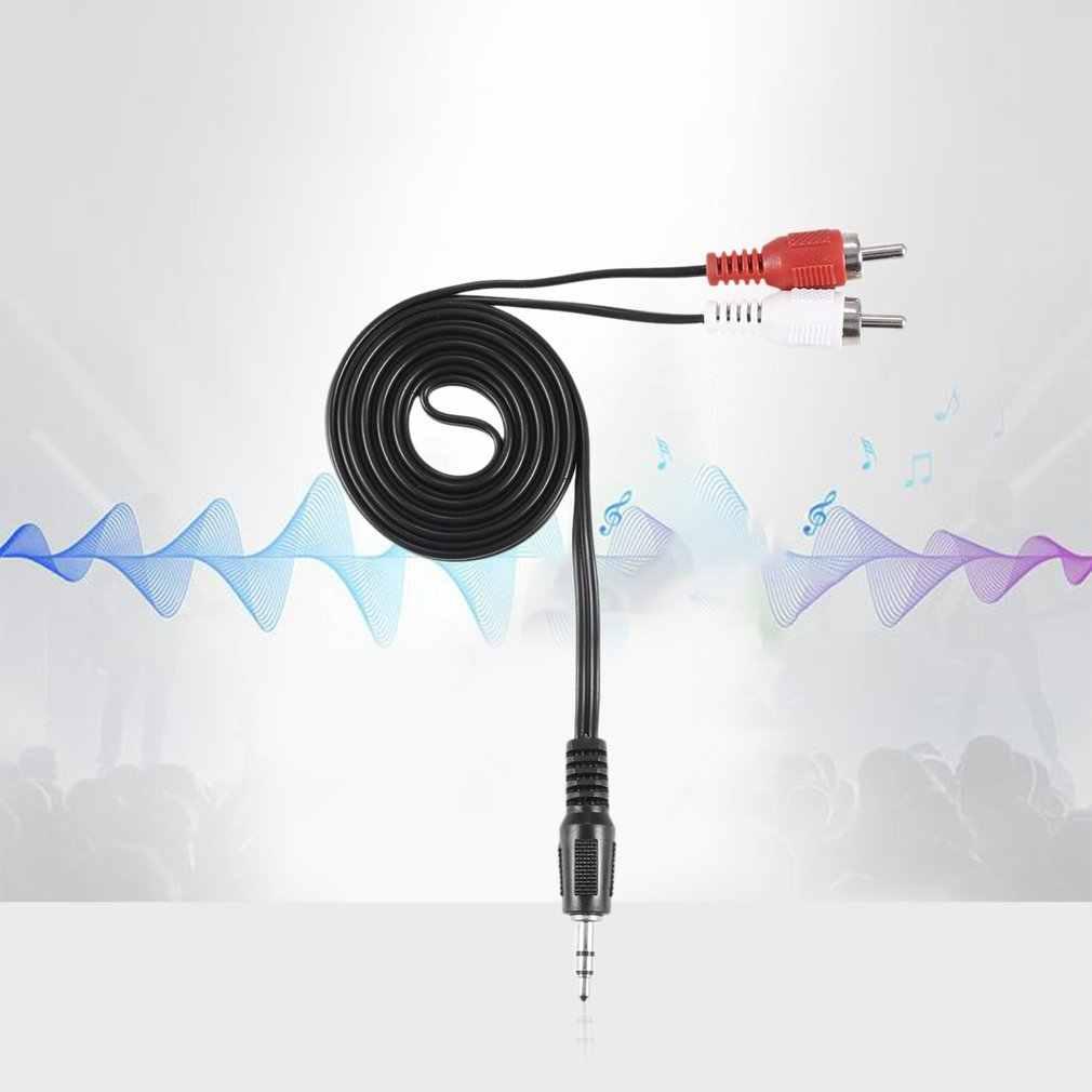 Mini 3.5mm wtyk Jack do 2 RCA męski muzyka Stereo Audio Y adapter Kabel z przejściówką Kabel AUX do Mp3 Pod telefon dźwięk telewizora głośniki