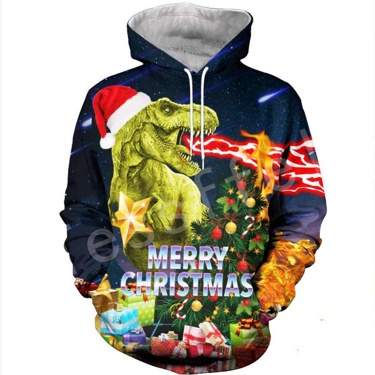 Tessffel Santa Claus Christmas Colorful Men/Women 3D Full Print Sweatshirts/Hoodie/shirts/Jacket  Casual Colorful Funny Style-9