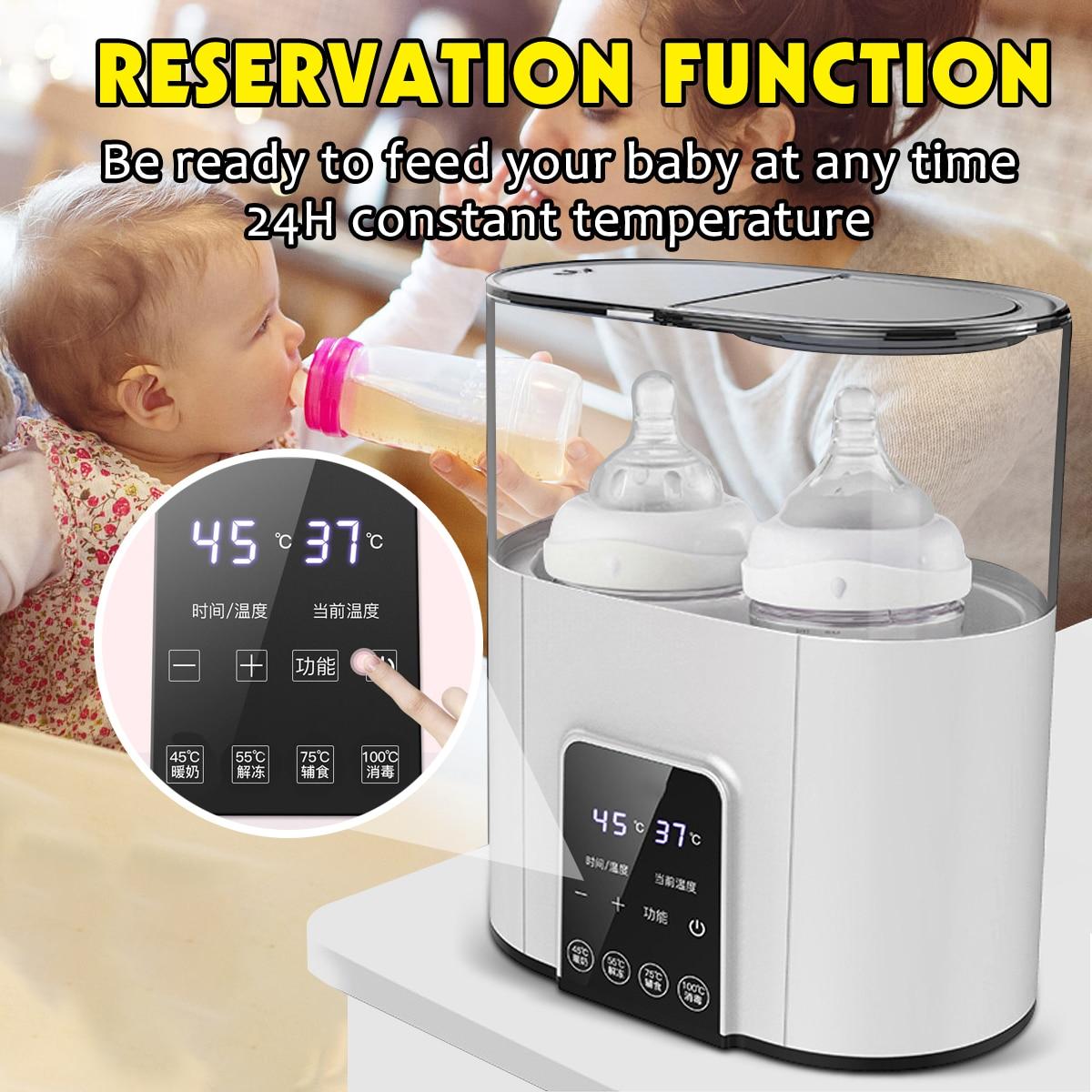 6 In 1 Smart Universal BabyFood Warm Baby Feeding Bottle Warmer Heater Sterilizer 220V Electric Milk Food Warmers With Timer