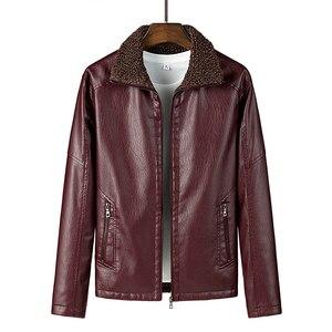 2020 новая осенне-зимняя Большая мужская куртка из овечьей кожи с отворотом, Повседневная модная мотоциклетная свободная замшевая кожаная ку...
