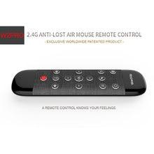 Wechip w2 pro controle remoto de voz 2.4g teclado sem fio mouse ar ir aprendizagem microfone giroscópio para android caixa tv h96 max