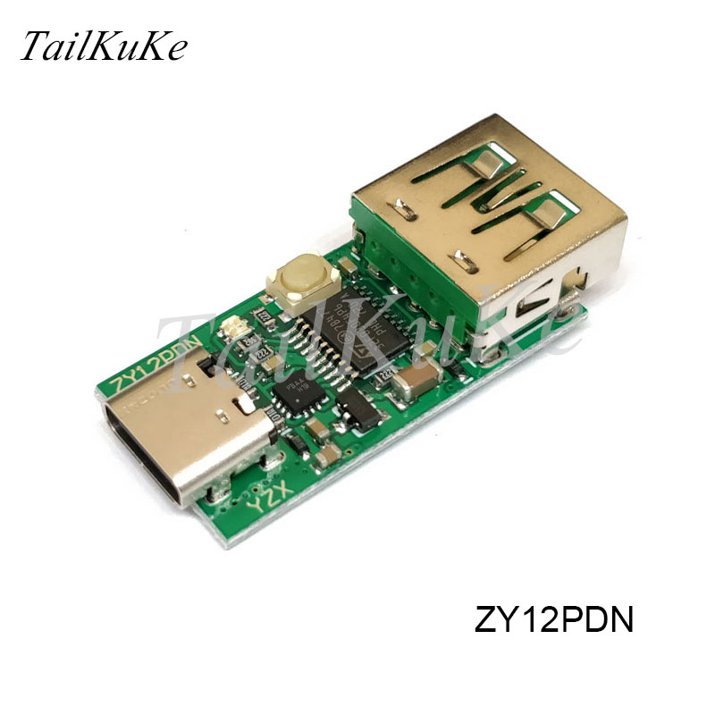 ZY12PDS USB-C PD2.0 3.0 To DC Spoof Fast Charge Trigger Polling Detector Notebook Power Supply Change Type-C