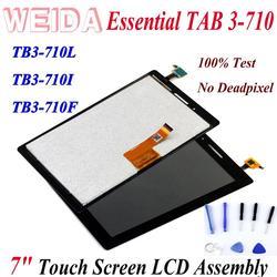 Сменный ЖК-экран WEIDA 7 дюймов для Lenovo TAB 3 Essential 710, планшетный ПК, ЖК-дисплей, сенсорный экран в сборке, с возможностью подключения к экрану, для ...