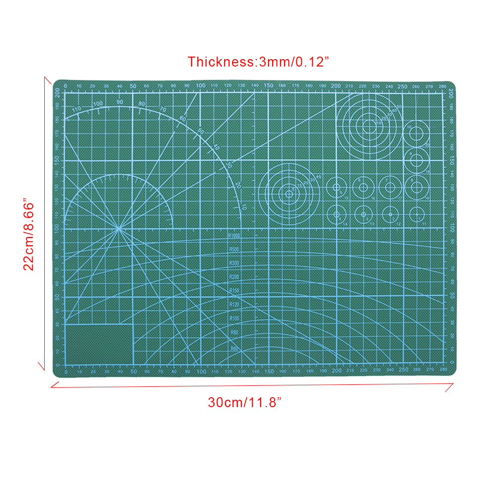 Zayex A4 Double-sided Self-healing PVC Cutting Mat Pad Patchwork Cut Pad  Patchwork Tools Manual DIY Tool Cutting Board