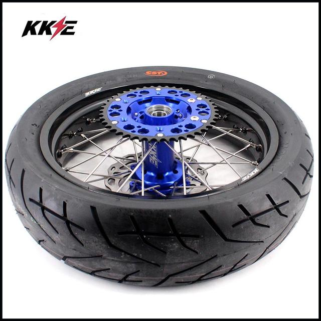 COMPLETE SUPERMOTO WHEELS & TIRES SET  5