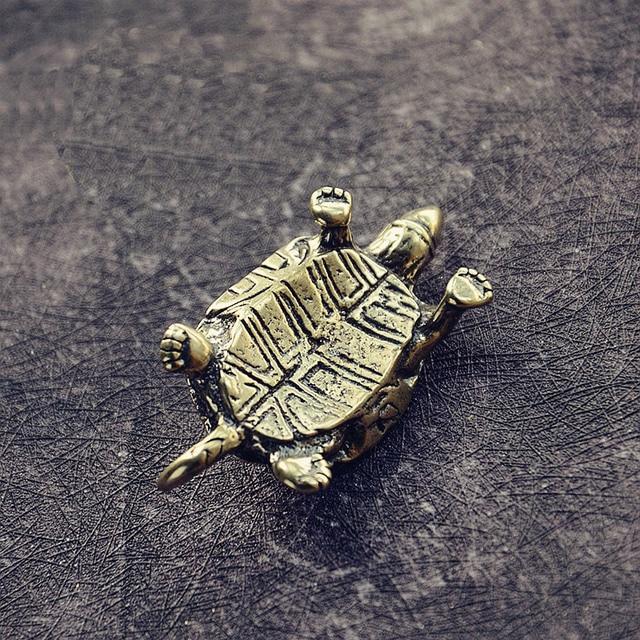 Mini Cute Brass Tortoise Vintage Turtle Statue Metal Figure Props Animal Sculpture Home Office Desk Decorative Ornament Toy Gift 5