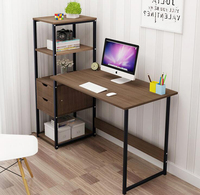 120cm simple Computer desk student writing desk with bookshelf combination notebook table bedroom furniture