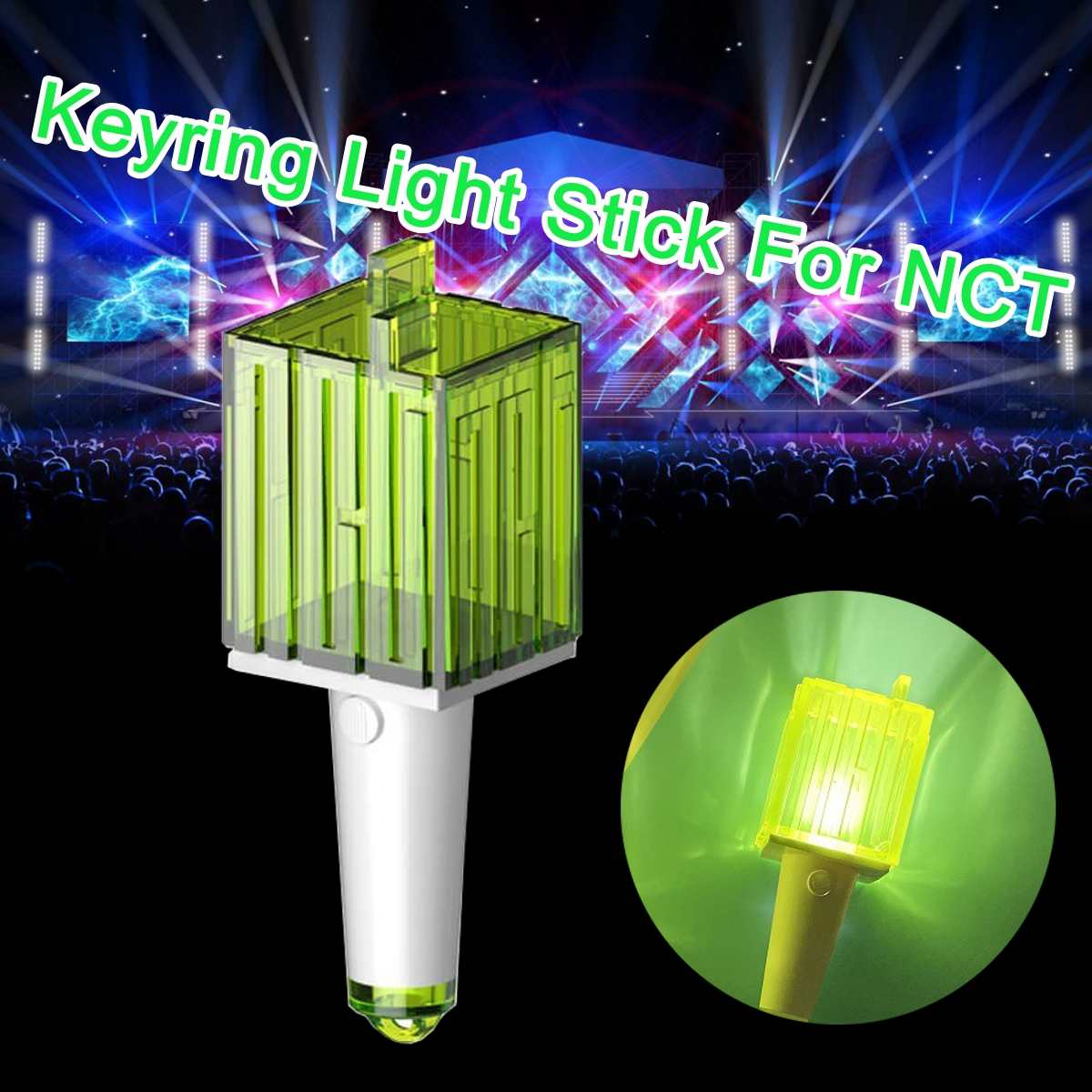 LED FOR NCT Kpop Stick Lamp Lightstick Music Concert Lamp Fluorescent Stick Aid Rod Fans Gift Stationery Set