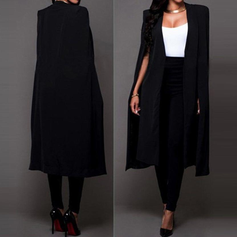 Coats Blazers Loose Long Cloak Blazer Coat Cape Cardigan Outwear Trench Coats And Jackets Women 2018jul27