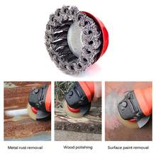 Conjunto de escova de aço do copo liso do fio da roda do fio do nó 75mm