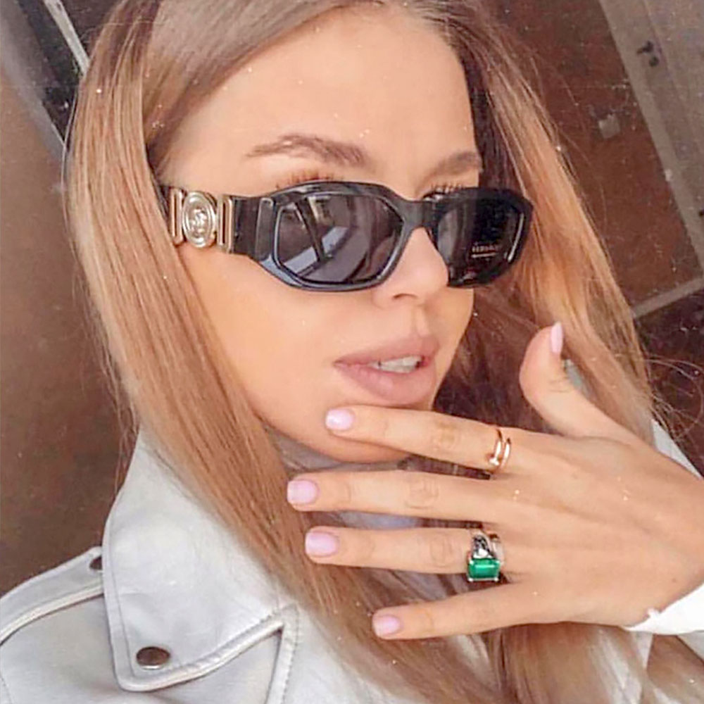 2019 New Designer Sunglasses For Men Women Vintage Glasses Small Personality Irregular Polygons Ladies Sun Glasses Mirror Shades in Women 39 s Sunglasses from Apparel Accessories