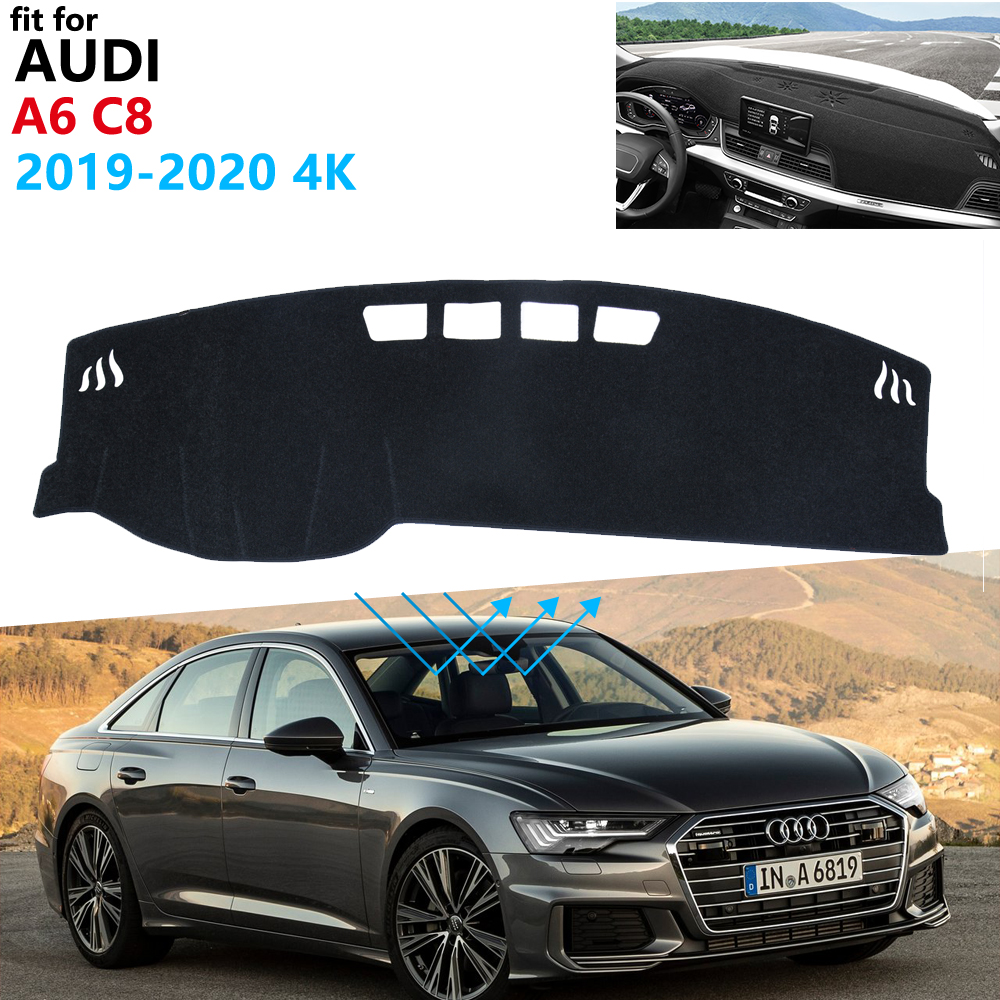 Dashboard Cover Protective Pad for <font><b>Audi</b></font> <font><b>A6</b></font> C8 <font><b>2019</b></font> 2020 4K Car Accessories Dash Board Sunshade Anti-UV Carpet S-line Rug image