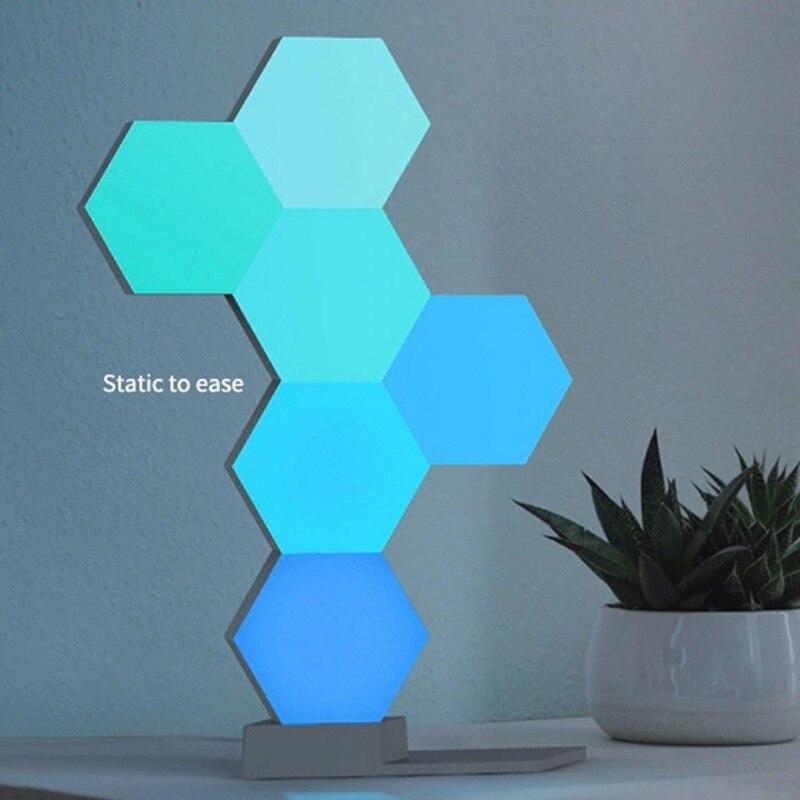 DIY светодиодный цветной квантовый светильник шестиугольный модульный сенсорный ночник магнитный шестигранный креативный подарок декорат... - 4