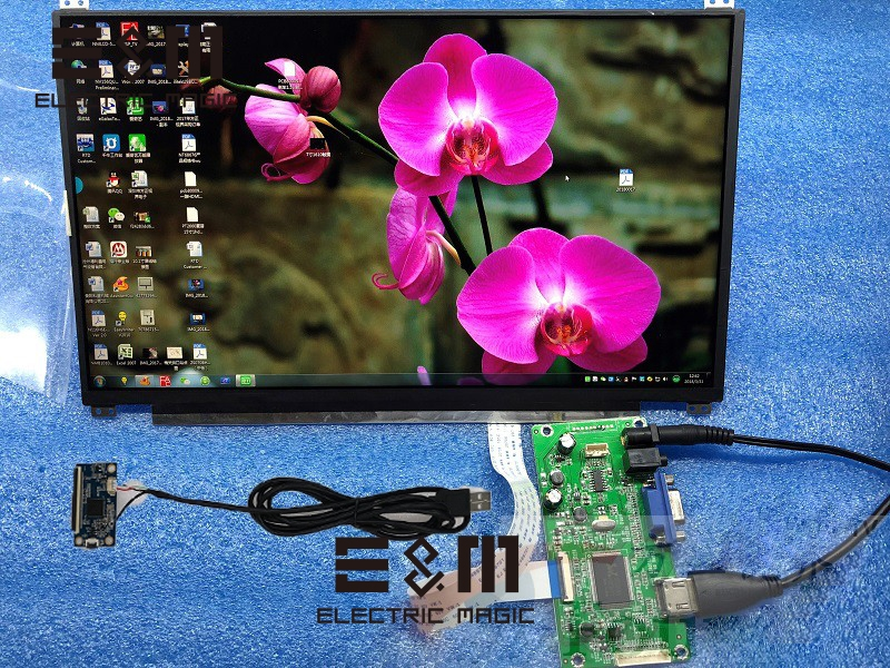 13.3 Inch IPS 1920*1080 Capacitive Touch Screen LCD Monitor HDMI VGA EDP Drive Board Car Raspberry Pi Display Module DIY Kit