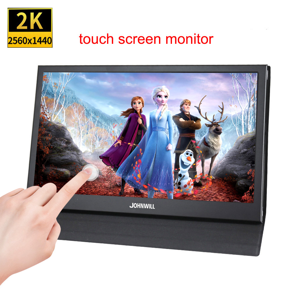 Tragbare 13,3 zoll 2K Touch Screen monitor PC full HD IPS lcd kleine 15,6 zoll monitor 1920x1080 für Raspberry Pi PC PS4 PS3 Xbox