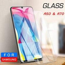9h protetor de tela de vidro protetor de proteção para samsung a50 a 50 telefone para samsung galaxy a70 a80 a90 a60 a40 a30 a20 a10 vidro duro