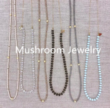 Hand Knot Bead Neckace For WOmen,River Stone Bead Necklace Gold Chain Necklace Crystal Necklace Women Necklace цена 2017