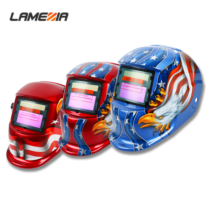 LAMEZIA PP Solar Automatic Adjustable Photoelectric Darkening Welding Mask Helmet For Welding Machine