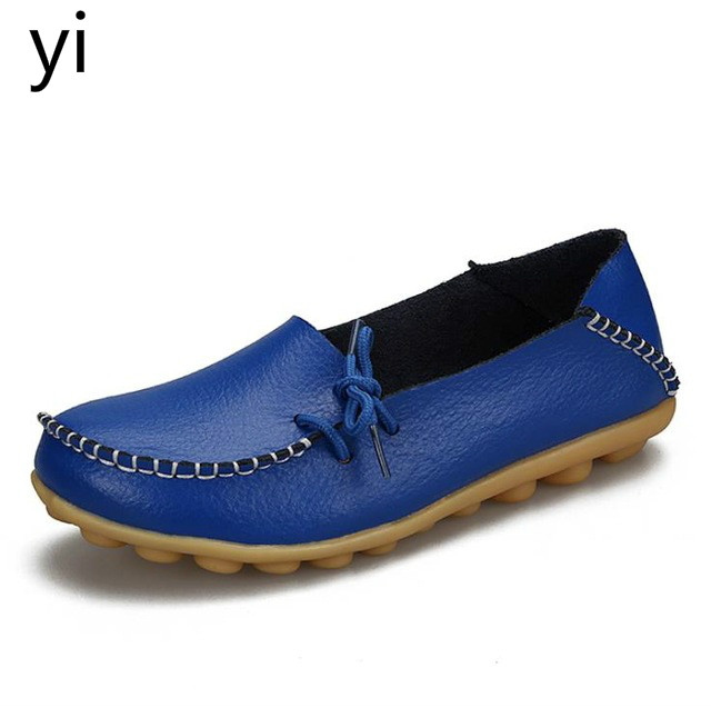 yi new 2019  Casual shoes leather fashion Comfortable  lace-up women's shoes