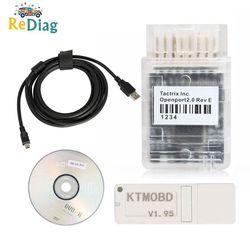 أحدث أداة تحديث KTMOBD V1.95/1.20 KTMOBD ECU Openport J2534 نقل ثابت القراءة الحقيقية KTM OBD USB دونغل شحن مجاني