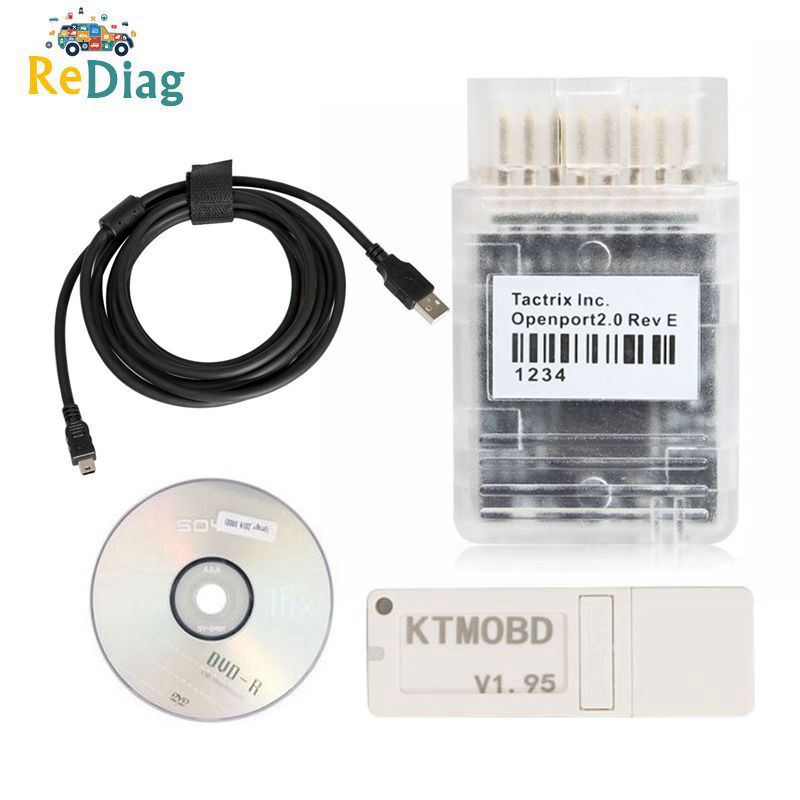 Newest KTMOBD V1.95/1.20 KTMOBD ECU Upgrade Tool Openport J2534 Transfer Stable Real Reading KTM OBD USB Dongle Free Shipping
