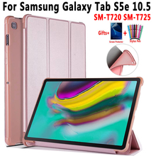 Soft Smart Case for Samsung Galaxy Tab S5e 10.5 SM-T720 SM-T725 T720 T725 Shockproof Cover For Samsung Tab S5e 10.5 +Film+Pen чехол fasion case для samsung galaxy tab s5e 10 5 t720 t725 purple 10345