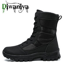 Mens Hiking Shoes Military Boots Casual Fashion Men Sneakers Non Slip Outdoor Trekking Tactical Microfiber Leather Shoes New 45