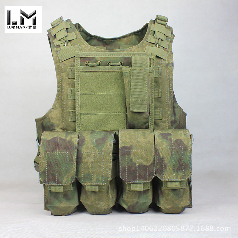 A- TACS FG Amphibious Tactical Vest Outdoor Hiking Load Counter Strike Cosplay Protection Equipment