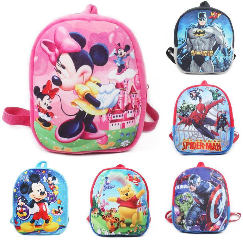 Kids 3D Animal Backpacks Baby Girls Boys Toddler Schoolbag Children Cartoon Mickey Bookbag Kindergarten Toys Gifts School Bags
