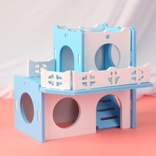 Hamster Plastic Hideout Safe Small Pet House Hamster Climbing Toy Hamster Nest Sleeping House Luxury Cage Hamster Hideout