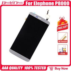 Image 4 - Bingyeng جديد الأصلي ل Elephone P8000 شاشة تعمل باللمس شاشة الكريستال السائل الإطار الجمعية استبدال
