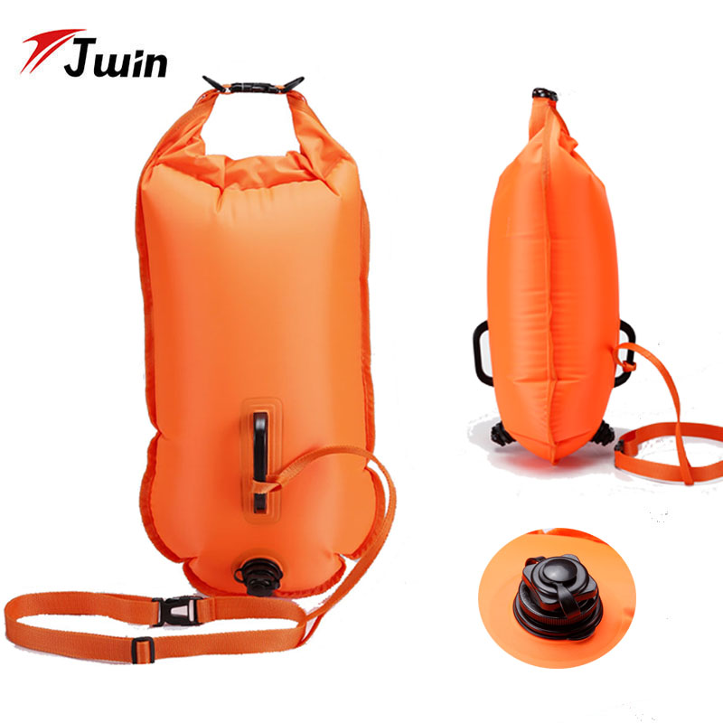 28L Swimming Bag Inflatable Swimming Buoy Life Bag Tow Floating Dry Bag Swimming Diving Training Safety Signal Air Bag
