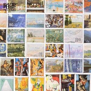 Image 2 - 20 zestawów/partia Kawaii papiernicze naklejki słynny obraz album dekoracyjne naklejki na telefon Scrapbooking DIY naklejka rzemieślnicza