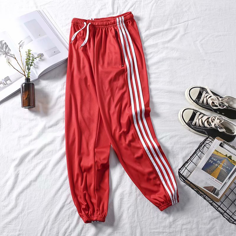 2019 Spring And Autumn Men Korean-style New Style Stripes Casual Pants Men's Capri Athletic Pants Teenager Loose Casual Pants