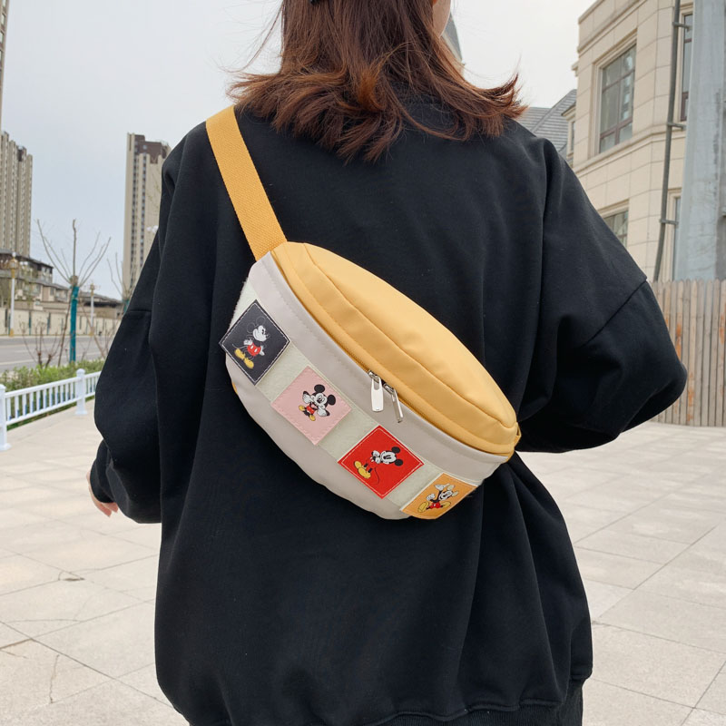 Mickey Waist Bags For Women Shoulder Crossbody Chest Bag Canvas Fanny Pack Lady Phone Pouch Lady Belt Bag 2020 Travel Waist Pack