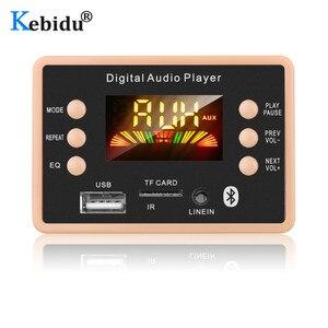 Image 1 - Kebidu 5V כדי 12V אלחוטי Bluetooth 5.0 MP3 מפענח לוח מודול AC6926 שבבים FM רדיו מודול MP3 FLAC WMA WAV עבור לרכב