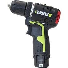WORX WU130 профессиональный инструмент 12 В бесщеточный мотор Беспроводная электрическая отвертка с 2 батареями и зарядным устройством