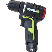 Screwdriver Motor-Drill Cordless Worx Wu130 2-Battery Charger 12V with And